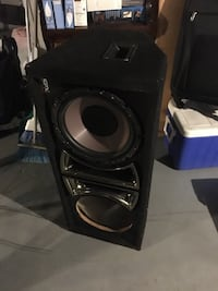 """Subwoofer box 12""""with one speaker"""