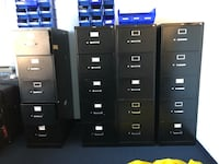 two black metal 4-drawer filing cabinets Los Angeles, 91344