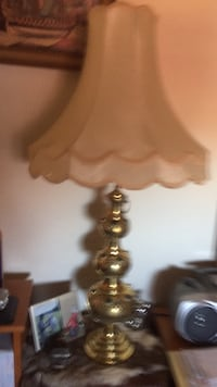 Solid brass lamp with shade  Toronto, M1V 3C7