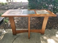 Oak table with stone tile inlays. West Springfield, 22152