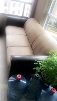 Two piece Leather/Suede sofa PERFECT CONDITION (pick up) Vaughan, L6A 0J9
