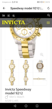 round gold chronograph watch with link bracelet Winnipeg, R3A 0M1