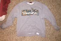 gray, brown and white Diamond print sweater Blandon, 19510