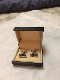 Pair of Silver Cufflinks with Box