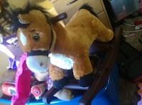children's brown fur rocking horse Las Vegas, 89108