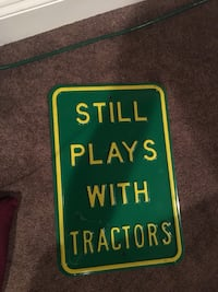 green and yellow Still Plays with Tractors signage Purcellville, 20132
