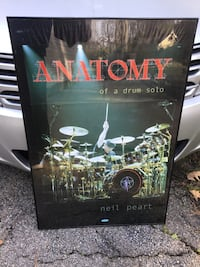 Neil Peart Drum poster and frame.