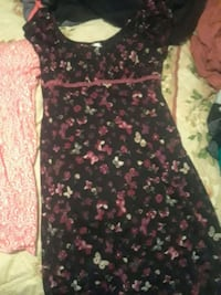 black and pink floral scoop neck sleeveless dress Moyock, 27958