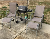 Charcoal grill and patio lounge chairs  Virginia Beach, 23455