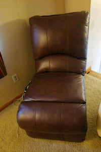 brown leather padded rolling armchair Philadelphia, 19140