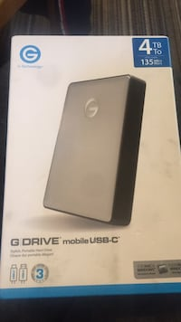 G Drive 4tb new in box Burnaby, V5H 2N7