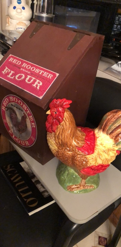 Photo Vintage Rooster Cookie Jar - Country Kitchen