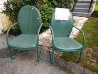 ANTIQUE METAL CHAIRS 39 km
