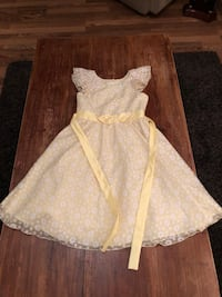 Girls size 10 yellow dress