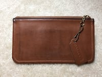 Brown leather coach zip pouch Fairfax, 22032