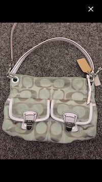 women's gray Coach hobo bag Airdrie, T4B 0E3