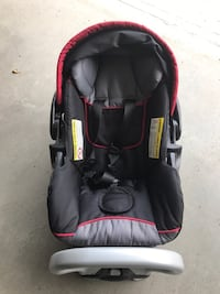 baby's black and red car seat carrier Airdrie, T4B 3R9