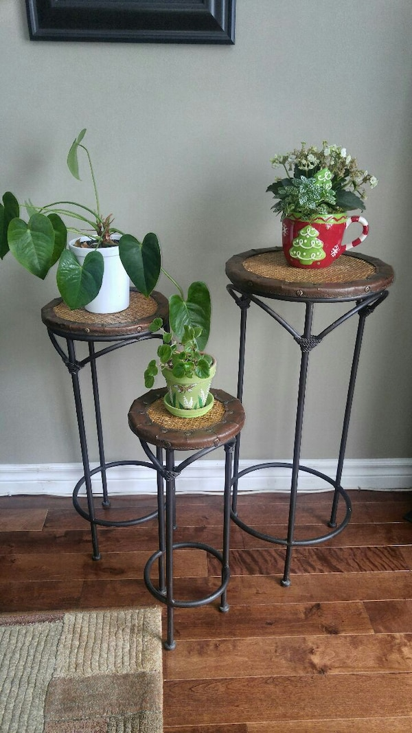 METAL STAND NESTING PLANT TABLES