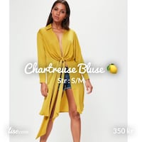 Chartreuse bluse Oslo, 0267