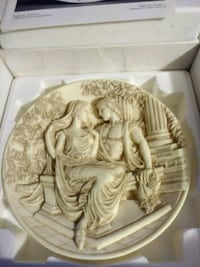 Greece plate in box