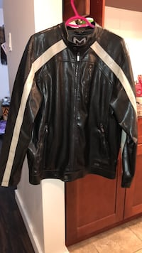 black leather zip-up jacket Edmonton, T5L 0N7