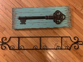 Entry way decor and coat hanger