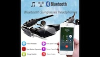 SPORT WIRELESS BLUETOOTH HEADPHONES SUNGLASSES 31 km