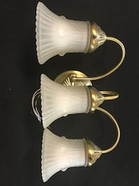 Two white and brown table lamps Камминг, 30040
