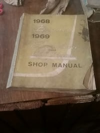 1968 Ford Bronco 1969 Econoline Club Shop Manual Hanover, 17331