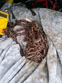 Two 15ft towing chains with tow hooks