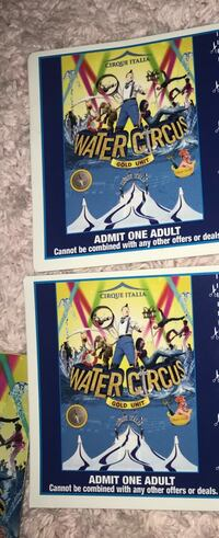 2 tickets water circus frederick Frederick, 21704