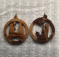 Vintage Christmas ornaments hand carved wood Redondo Beach, 90278
