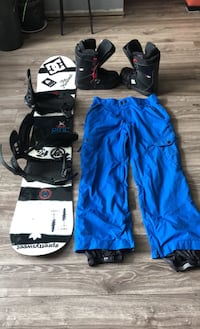 Ride Snowboard Package 152 board, pants and boots Delta, V4K 2Z3