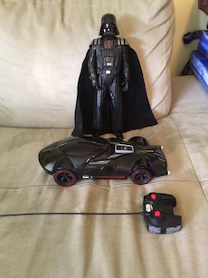 Darth Vader figure and remote control car toy
