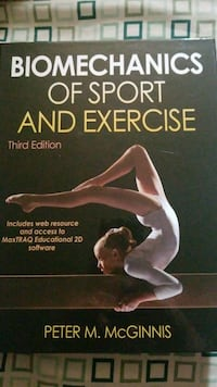 Biomechanics of Sport and Exercise third edition by Peter M. McGinnis book Lacombe, T4L 1N1
