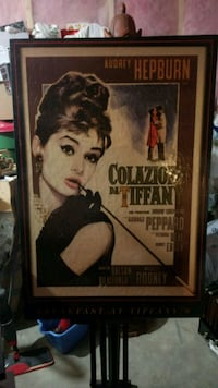 Breakfast at Tiffany's canvas print with display e Edmonton, T6M 2P6