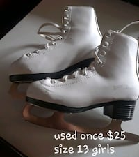 pair of white leather boots
