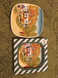 Country Club ceramic wall plates
