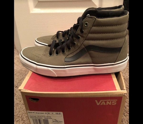 b0bec447a4a0 Used Men olive green high top vans size 10 for sale in Union City - letgo