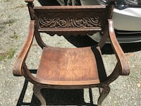 Antique wooden chair. Chesterfield, 23832