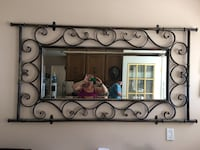 iron framed mirror Langley Township