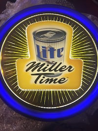 Classic 1998 Miller Lite lighted wall sign 63 km