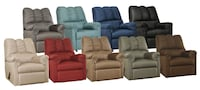 8 Different Colors Rocking Recliner New By Ashley Madison, 35756