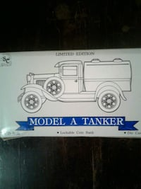 Limited edition model a tanker lockable coin bank