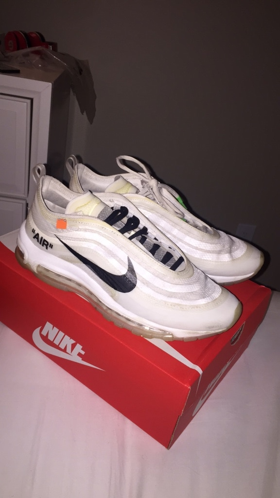 2f8d109dc7 ... used off white nike air max 97 size 10 m for sale in atlanta letgo