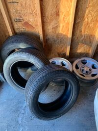 Set of 2 Jeep rims & (3) 16in tires