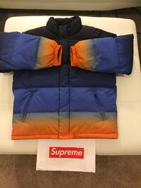 Blue and orange Supreme full-zip bubble jacket Washington, 20001