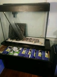 35 gall Aquarium withstand and 22 filters.