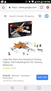 75273 star wars lego x-wing fighter