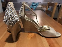 Size 8 champagne wedges Seekonk, 02771